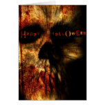 Halloween Scary Skull Greeting Card