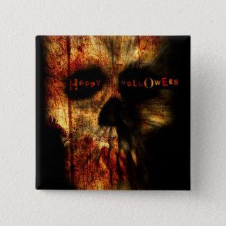 Halloween Scary Skull Pinback Button