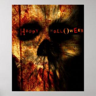 Halloween Scary Skull Poster