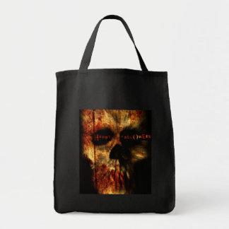 Halloween Scary Skull Tote Bag
