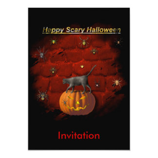 """ Halloween"" Scary Spiders Party Invitation card.*"