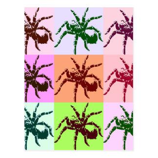 Halloween Scary Tarantula Tiles Postcard