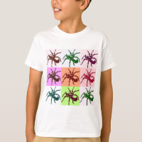 Halloween Scary Tarantula Tiles T-Shirt