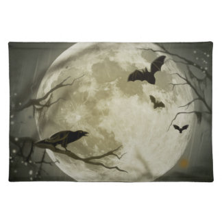 Halloween Scene Cloth Placemat
