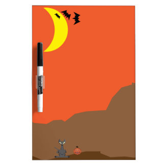 Halloween scene Dry-Erase board