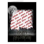 Halloween Scene Photo Frame Card