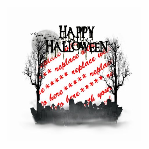 Halloween Scene Photo Frame Cut Outs