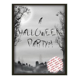 Halloween Scene Photo Frame Flyer