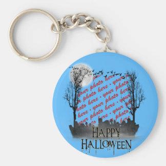 Halloween Scene Photo Frame Key Chains