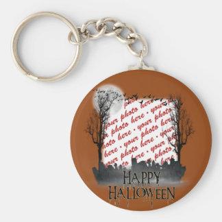 Halloween Scene Photo Frame Key Chain