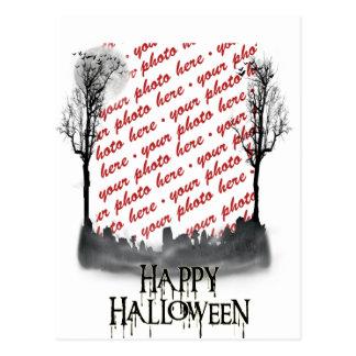 Halloween Scene Photo Frame Post Card