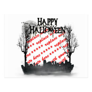 Halloween Scene Photo Frame Post Cards