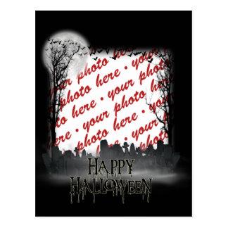 Halloween Scene Photo Frame Postcard