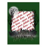 Halloween Scene Photo Frame Postcards