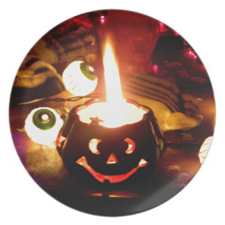 Halloween Scene Plates