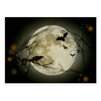 Halloween Scene Postcard