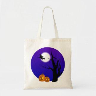 Halloween Scene Re-useable Bag