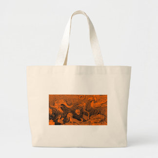 Halloween Scene Scary Monsters Tote Bags