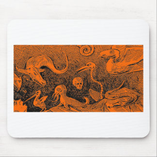 Halloween Scene Scary Monsters Mouse Pad