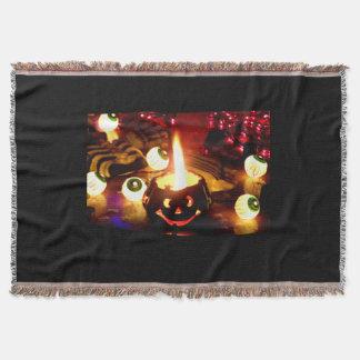 Halloween Scene Throw Blanket
