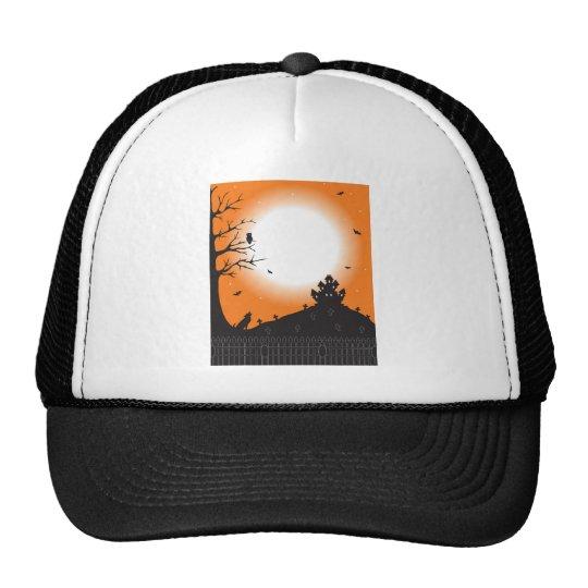 Halloween Scene Trucker Hat