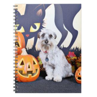 Halloween - Schnauzer - Bella Libros De Apuntes Con Espiral