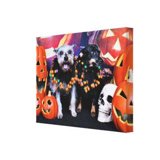 Halloween - Schnauzer Pansy - Chiweenie Nellie Canvas Prints