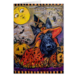 Halloween Scottie Greeting Card