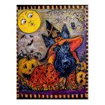 Halloween Scottie Postcard