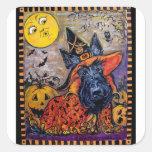 Halloween Scottie Square Sticker