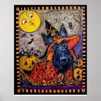 Halloween Scottish Terrier Poster