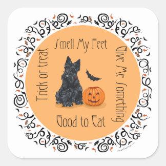 Halloween Scottish Terrier Square Sticker