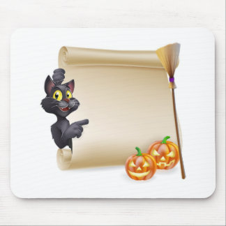 Halloween Scroll Sign Mouse Pad