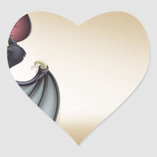 Halloween scroll with space heart sticker