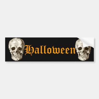 Halloween, Sculls Bumper Sticker