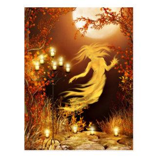 Halloween seance postcard