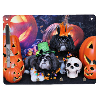 Halloween - Shih Tzu - Ruffles Riley Dry Erase Boards