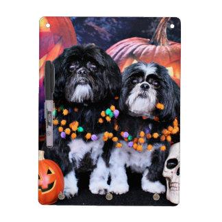 Halloween - Shih Tzu - Ruffles Riley Dry Erase Board