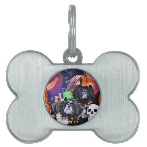 Halloween - Shih Tzu - volantes Riley Placas De Mascota