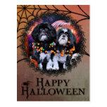 Halloween - Shih Tzu - volantes Riley Postal