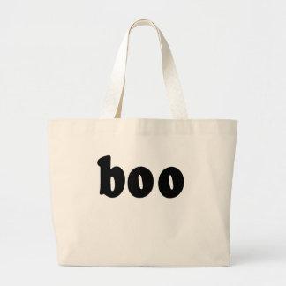 Halloween Shirt That says BOO Large Tote Bag