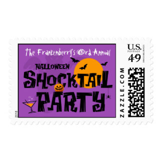Halloween Shocktail Party Postage