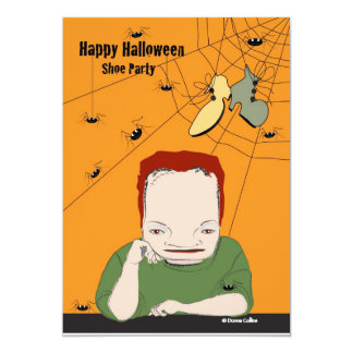 Halloween Shoe Party Card