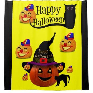 Halloween Themed Halloween Shower Curtain