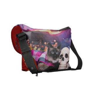 Halloween - Siamese Cat - Mia Marie Messenger Bag