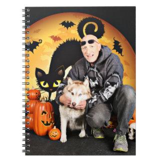 Halloween - Siberian Husky - Nala Spiral Note Books