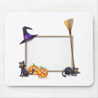 Halloween sign mouse mats