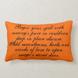 Halloween,sign,text,poem,poetry,pillow Lumbar Pillow