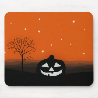 Halloween Silhouette Landscape Mouse Pad