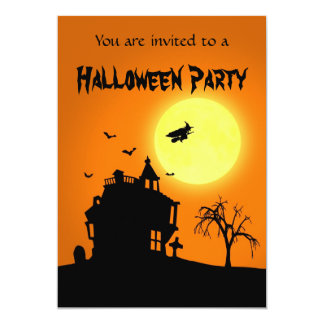 Halloween Silhouette Landscape - Party Invitation